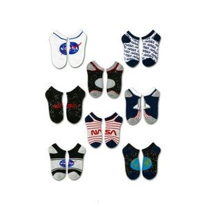 NASA Assorted 8 Pack No Show Kids Socks Size Small